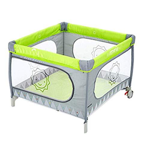 Hardlooprooster, kinderspeelhek activiteitencentra jongens veiligheidshek meisje kruipmat inklapbare draagbare hek (kleur: groen-b, maat: 100 * 100 * 75 cm)