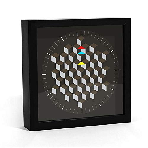 Sechseckiger Tisch des modernen Grafikdesignentwurfs minimalistische Wanduhrkunstdekoration rotierende Plattenuhrzeigertabellen-Smartwatch