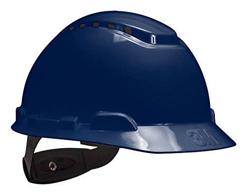 3M Hard Hat H-710V, Navy Blue, 4-Point Ratchet Suspension, Vented