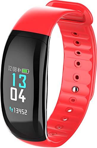 HKPLDE Fitness Tracker/Bluetooth Podómetro Smartwatch Calorías Monitor de sueño Impermeable Notificación de Llamada para Hombres Mujer para Android e iOS Pulsera Actividad-Rosa