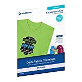 "Printworks Dark T-Shirt Transfers for Inkjet Printers, For Use on Dark and Light/White Fabrics, Photo Quality Prints, 20 Sheets 8 ½"" x 11"" (00545)"