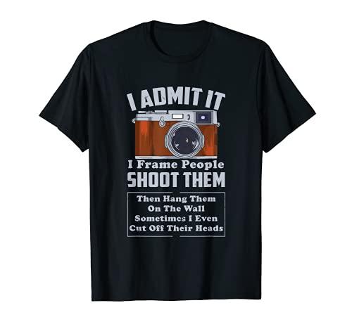 I Shoot People Fotografía Fotógrafo Cámara Vieja Vintage Camiseta