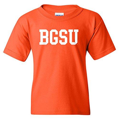 Bowling Green State University Falcon Basic Block Youth T-Shirt - Medium - Orange
