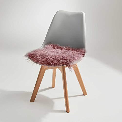 Butlers Tashi Kissen aus Lammfell in Weiß 35x35 cm - Stuhlauflage - Sitzkissen - Dekokissen - Kissen für Stuhl