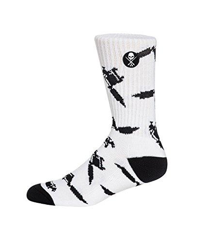 Sullen Men's Machined Socks White