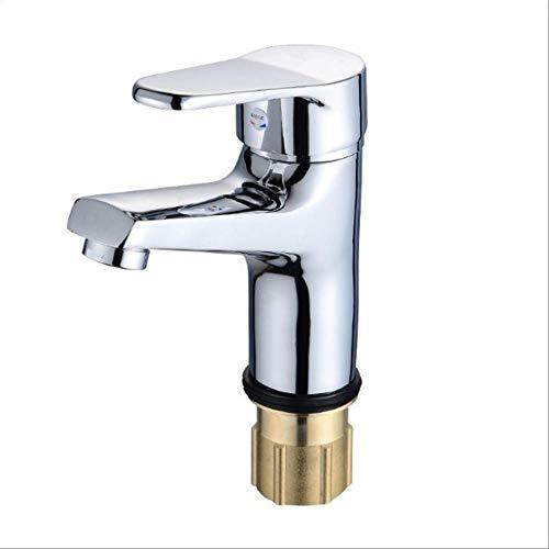 GHWZ Tafelarmaturen met warm en koud mengkraangat eenhands dual control bekken-wijde koperen basin-kraan-badkamerkast lichaam