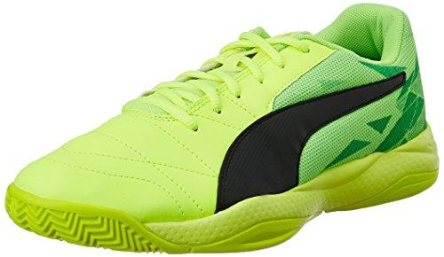 Puma Unisex Veloz Indoor III Jr Hallenschuhe, Gelb (Safety Yellow Black-Green Gecko 05), 39 EU