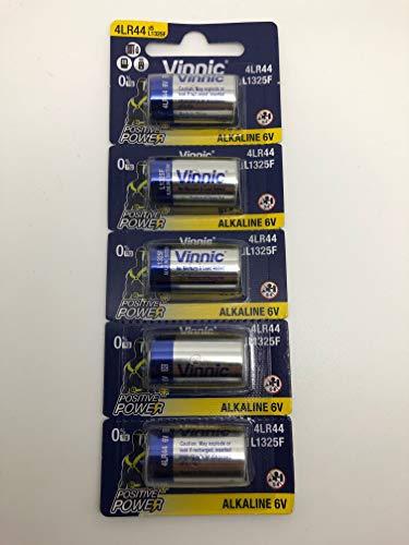 Vinnic L1325 4LR44 - Lote de 5 pilas alcalinas (6 V, RFA-18-11, 476A, V4034PX, A544, PX28)