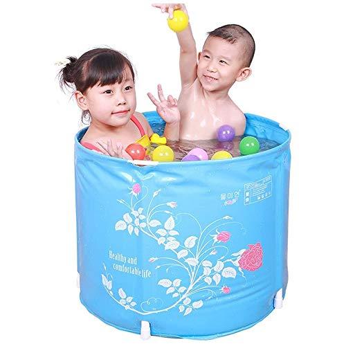 QIYUE Draagbare Badkuip, opvouwbare doorweken bad for douchecabine, verdikking met Thermal Foam om de temperatuur houden, eenvoudig te installeren