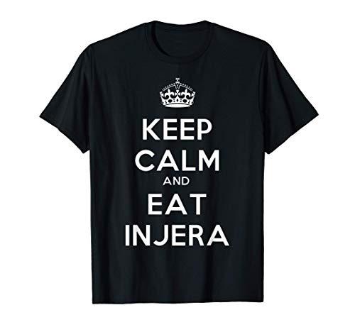 Keep Calm And Eat Injera Habesha Eritrea Äthiopien T-Shirt