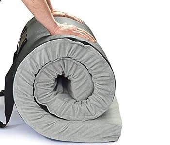Better Habitat CertiPUR-US SleepReady Solid Memory Foam Floor & Camping Mattress  75 x 36 x 3  100% Memory Foam Roll Out Portable Sleeping Pad Waterproof Cover & Travel Bag.