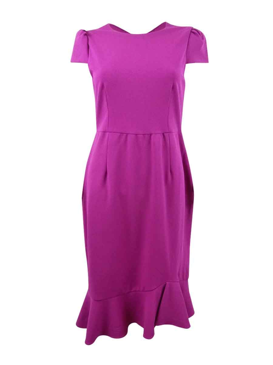 Available at Amazon: Betsey Johnson Women's Stretch Crepe Dress with Ruffled Hem