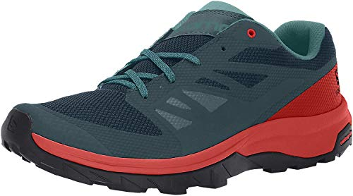 Salomon Outline GTX Shoes Men Reflecting Pond/High Risk Red/Deep Lake Schuhgröße UK 9 | EU 43 1/3 2018 Schuhe