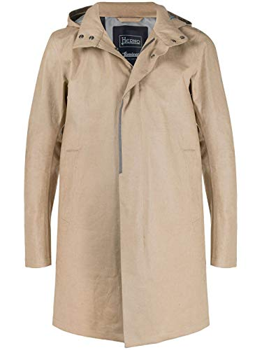 Luxury Fashion | Herno Heren IM041UL171152105 Beige Linnen Trenchcoats | Lente-zomer 20