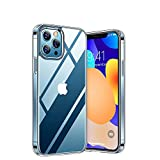 GGOIl Estuche a Prueba de caídas Simple para prevención de caídas Crystal Clear Hybrid TPU PC para iPhone 11/11 Pro / 11 Pro MAX XR XS 8plus, Crystal Clear, para iPhone 8 7 6S 6