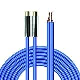 MEIRIYFA Cable de altavoz a conector RCA, cable de altavoz 2RCA cable desnudo OFC Audio Video RCA extremo abierto para amplificador cable de subwoofer (2RCA hembra)