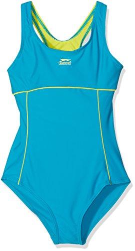 7-8 Jahre Slazenger Mädchen Badeanzug in der Farbe Teal/Lime