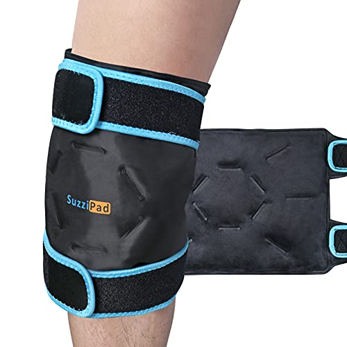 SuzziPad Knee Ice Pack for Injuries Reusable Gel Cold Pack with Cold Compress, Flexible Ice Pack Wrap for Knee Pain Relief, Arthritis, Tendonitis, Meniscus Tear, ACL, Swelling, Knee Surgery