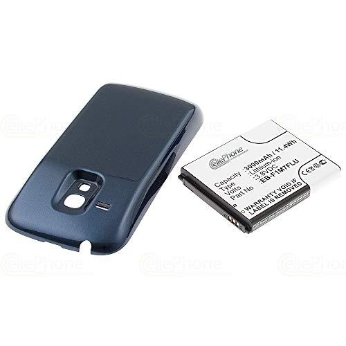 cellePhone batería Li-Ion para Samsung Galaxy S3 Mini (GT-I8190 / GT-I8200) - Negro (reemplazado EB-FIM7FLU) - 3000 mAh (Fat)