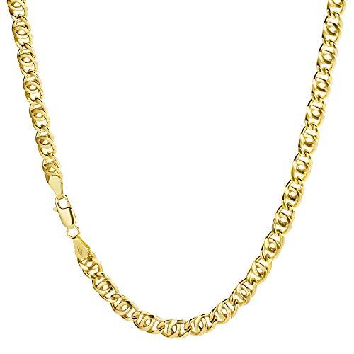 Collana a catena, in oro giallo 585 da 14 carati, larghezza 5 mm e Oro giallo, colore: oro giallo, cod. 14PH-8-03