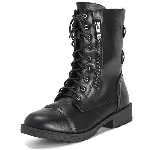 Viva - Botas de media caña con bolsillo exterior y cremallera para mujer, color Negro, talla 39 EU