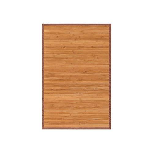 Alfombra Pasillera, Dormitorio o Salón de Madera Bambú(Natural, 60 x 90 cm)