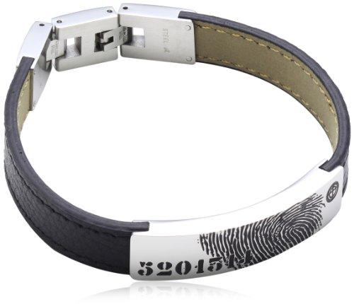 S. Oliver Herren-Armband Edelstahl Leder 21.5 cm - 417907