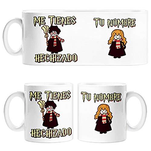 Diver Tazas Taza Parodia de Harry Potter me Tienes hechizado Personalizable con Nombre - Cerámica