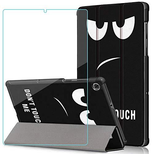 Brifu Funda para Lenovo Tab M10 FHD Plus 10.3 Pulgadas,Funda Protectora ultradelgada de PU función de Soporte,Ojo de hollín + 1x película Protectora de Vidrio Templado