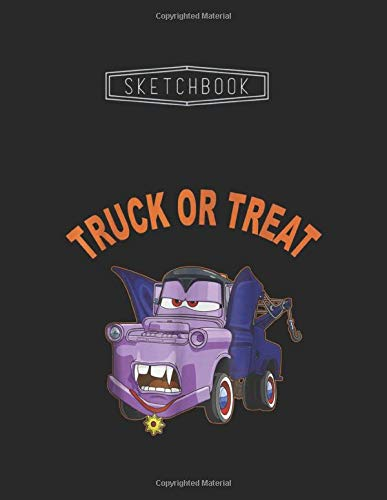 Sketchbook: Disney Pixar Cars 2 Mater Vampire Halloween Graphic Unlined 8.5''x11'' White Paper Blank Sketchbook 111 Pages with Black Cover A Perfect ... Kid - Artists - Creative People And Students