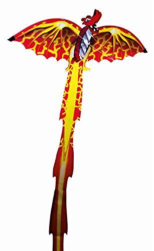 Paul Günther 1136 - 3D Drachen für Kinder, farbenprächtiger Drachen, Segel aus hochwertigem Polyester, mit Wickelgriff und Schnur, ca. 102 x 320 cm groß