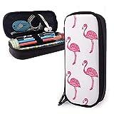 XCNGG Cuero impermeable Red Flamingo Team Estuche para lápices floral Estuche para bolígrafos Estuche para maquillaje Estuche para cosméticos Soporte para papelería de alta capacidad Organizador de al