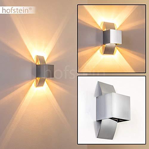 Wandleuchte Balti, Wandlampe aus Aluminium in Chrom, Wandspot 1-flammig, 1 x G9 max. 33 Watt, Wandstrahler mit Lichteffekt, LED geeignet