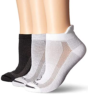 Merrell Women's 3 Pack Performance Hiker Socks , Grey White Mix (Low Cut Tab), Shoe Size: 10-13