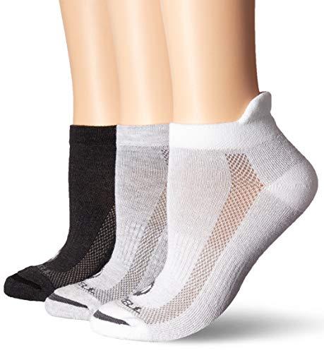 Merrell womens 3 Pack Performance Hiker (Low Cut Tab/Quarter/Crew) Casual Sock, Grey White Mix (Low Cut Tab), Shoe Size 4-10 US