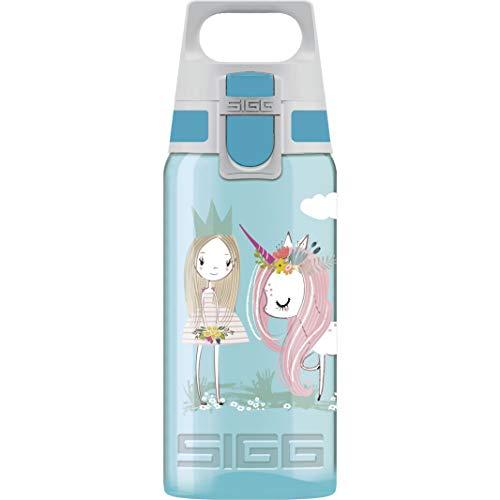 SIGG VIVA ONE Believe in Miracles Kinder Trinkflasche (0.5 L), Kinderflasche mit auslaufsicherem Deckel, einhändig bedienbare Wasserflasche