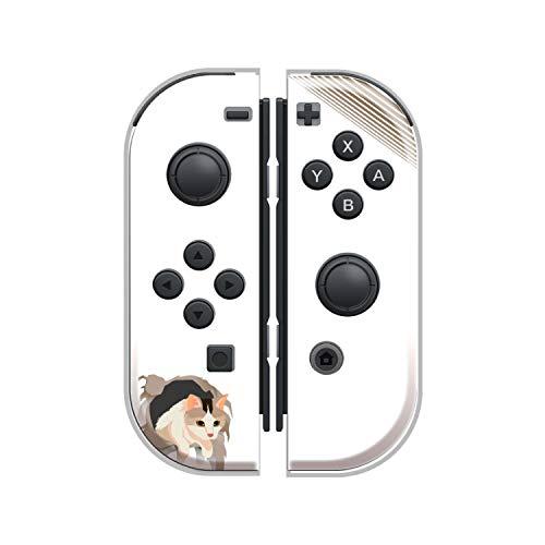 Nintendo Switch ケース 任天堂 スイッチ ジョイコン ケース ハードタイプ 傷から守る ねこ 猫 ネコ ニャンコブラック ブルー ホワイト ネイビー ピンク グリーン ベージュ 人気 かわいい おしゃれ