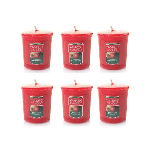 Yankee Candle Lot of 6 Macintosh Votive Candles