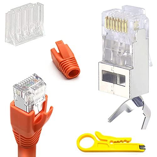 Conector RJ45 Cat 7 Cat6a10 Unidades para cable de instalación de 10...