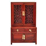 LLJXC Estilo Chino Regalo Modelo de Muebles Muebles de Caoba clásico Muebles de Caoba roja Modelo de Armario (Color : Red)