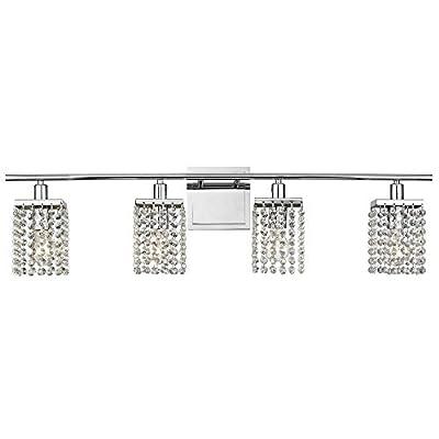 4-Light Crystal Bathroom Vanity Light