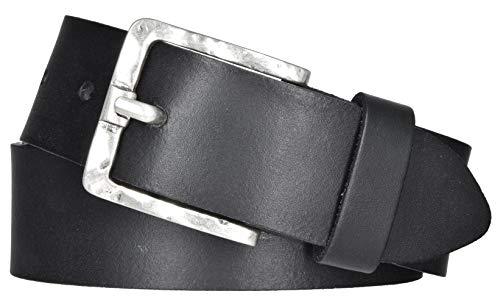 Mytem-Gear Damen Leder Gürtel Belt Ledergürtel Rindleder 40 mm Damengürtel (90 cm, Schwarz)