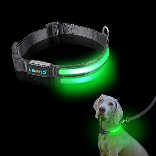 LaRoo LED Collar de Perro LED, Intermitente...