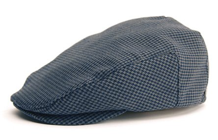 Brixton - Hat Hooligan en sergé à chevrons gris, Medium, Grey Herringbone Twill