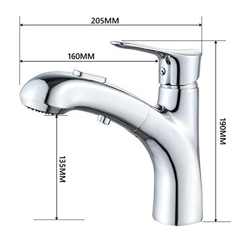 Solepearl Wasserhahn Bad mit 2 Strahlarten Brause