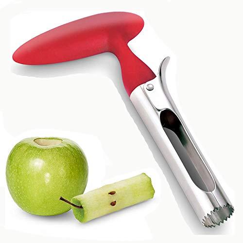 Moboo®Apfelentkerner Apfelkernausstecher 304 Edelstahl Apple oder Pear Entkerner Entfernermit Core mit scharfer gezackter Klinge Angle Handle Red