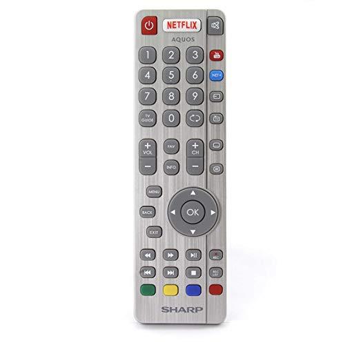 Original SHW/RMC/0116 Fernbedienung für Sharp Aquos 3D HD LCD LED Smart TV with Netflix YouTube NET+ Buttons