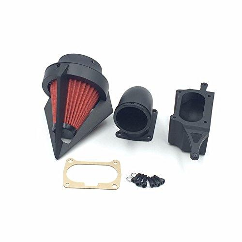 Htt Moto Noir mat Triangle Spike Air Cleaner Kits pour 2002–2010 Yamaha Roadstar Midnight Warrior