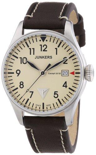 Junkers Herren-Armbanduhr XL Analog Quarz Leder 6144-5