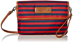 NAUTICA CROSSBODY PURSE FOR WOMEN - Each cross body bag includes: RFID Blocking, 1 large interior pocket, 1 interior zipper coin and change pocket, exterior zippered pocket, removable wristlet strap and magnetic snap button closing STOP RFID IDENTITY...